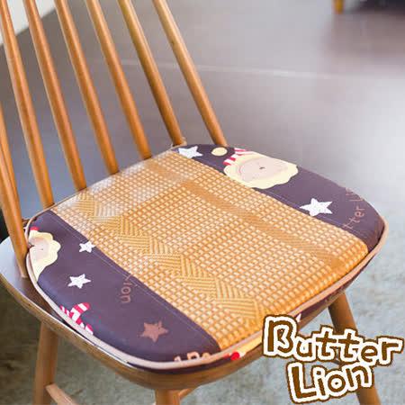 【奶油獅】正版授權-涼夏必購~高支撐記憶聚合-搖滾星星紙纖餐椅墊-咖啡(一入)