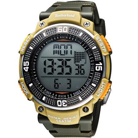 Timberland CADION系列多功能數位腕錶-橄欖綠 TBL.13554JPGNU/04