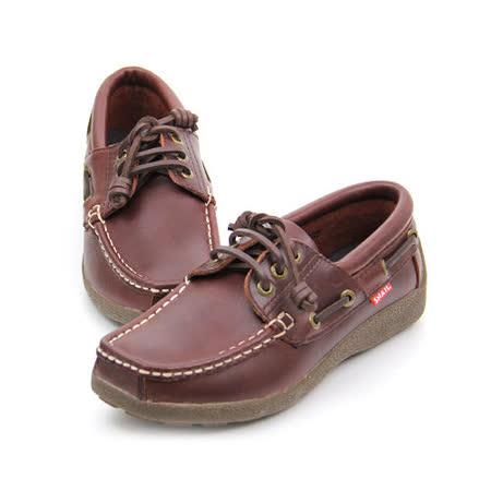 SNAIL蝸牛 厚底帆船鞋.休閒鞋(女生款)-咖啡色