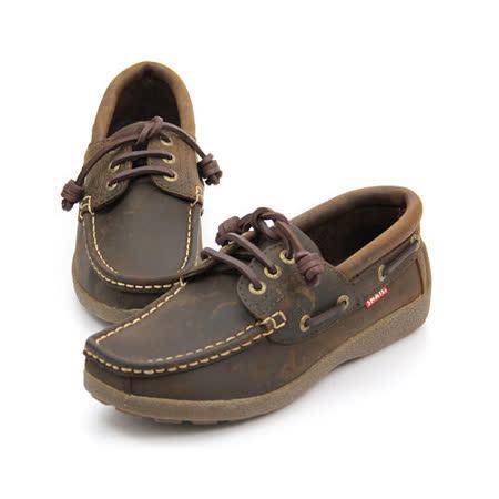 SNAIL蝸牛 厚底帆船鞋.休閒鞋(女生款)-棕色