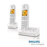 【飛利浦PHILIPS】數位雙子機無線電話D4052W(白色)