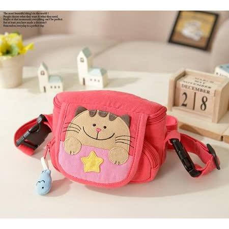 【貝斯貓】(ABS)斜揹包 小側包 相機包 小腰包/88-046 蜜桃粉