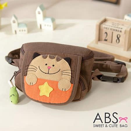 【貝斯貓】(ABS)斜揹包 小側包 相機包 小腰包/88-046 咖啡