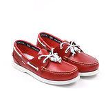 SNAIL蝸牛 休閒系帆船鞋(女生款)-紅色