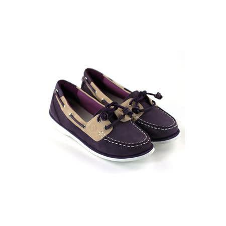 SNAIL蝸牛 輕鬆派淺口牛皮小垂墜帆船鞋(女生款)-紫色