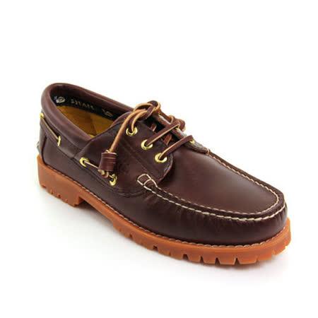 SNAIL蝸牛 雷根大底系列帆船鞋(男生款)-咖啡色