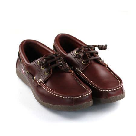 SNAIL蝸牛 厚底帆船鞋(男生款)- 咖啡色