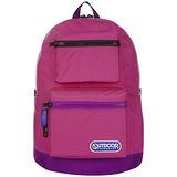 OUTDOOR雙面遊蹤雙色後背包-粉紅紫