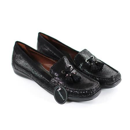 STONEFLY 義大利時尚品牌.復古時尚壓紋流蘇氣墊休閒鞋(女生款)-黑色