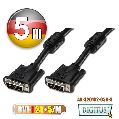 曜兆DIGITUS DVI-I (24+5) -5公尺圓線(公-公)