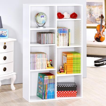 【Hopma】八格書櫃/收納櫃-兩色可選