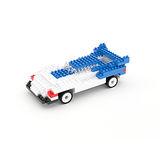 【UTICO】智慧手機遙控積木車第二代-TRANSPAG 變形跑車(藍白)
