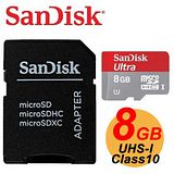 SanDisk Ultra microSDHC 8GB Class10 UHS-I 記憶卡(30MB/s)