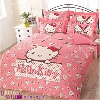 【享夢城堡】Hello Kitty時尚茶點系列-雙人床包被套組