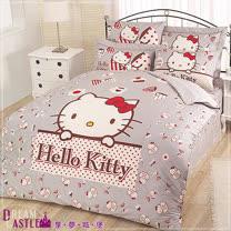 【享夢城堡】Hello Kitty時尚茶點系列-單人床包兩用被組