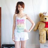 【ZARA】休閒風細肩帶棉質連身褲裝(白)