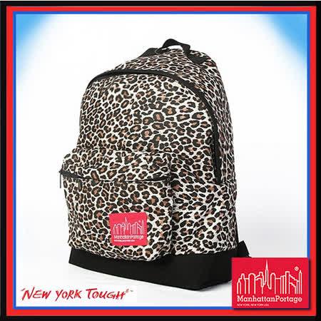 Manhattan Portage 曼哈頓 紐約品牌 光感豹紋 後背包 MP1209-WD-BI