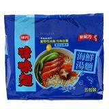 味丹味味麵海鮮湯麵 68g*5入