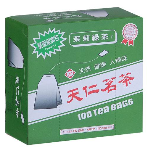天仁茉莉綠茶經濟包1.5g*100包盒