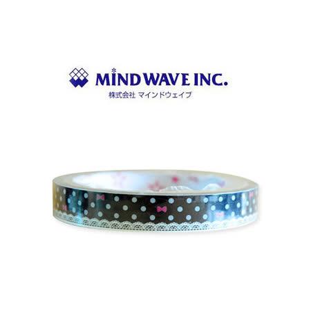 日本 MIND WAVE 可愛膠帶-蕾絲點點