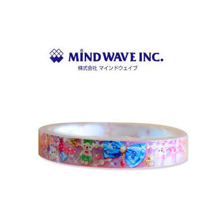 日本 MIND WAVE 可愛膠帶-珠寶小熊