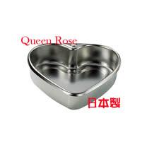 本霜鳥Queen Rose不鏽鋼心形蛋糕模 (小14cm)
