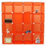 【舞動創意】百變創意大尺寸16格16門收納櫃_30.5cm_72片-香榭亮橘
