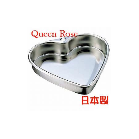 日本霜鳥Queen Rose不鏽鋼心形蛋糕模 (中18cm)