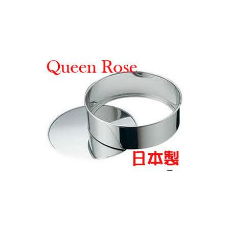 日本霜鳥Queen Rose不鏽鋼圓形蛋糕模 (中18cm)