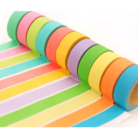 【PS Mall】 清新可愛糖果色 純色和紙膠帶 手撕可寫字_2入(J2206)