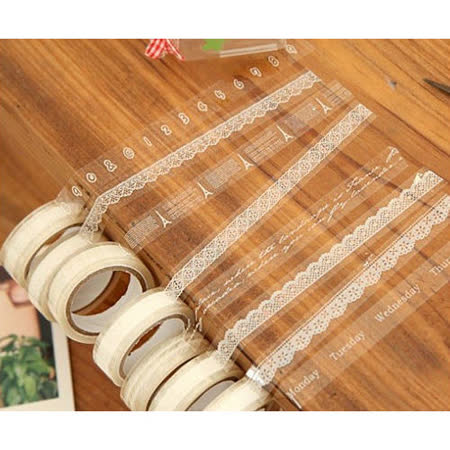【PS Mall】小清新DIY必備 透明蕾絲花邊膠帶 玻璃膠帶_3入(J2207)