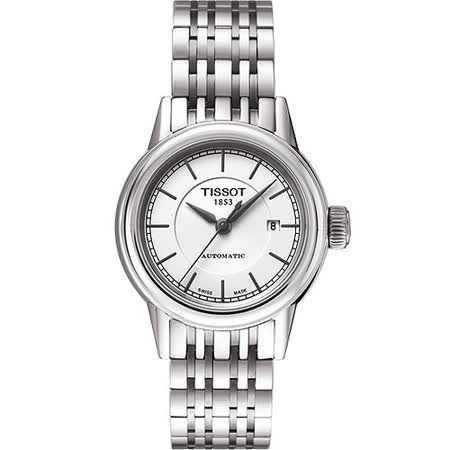 TISSOT T-Classic Carson 經典機械女錶-銀 T0852071101100