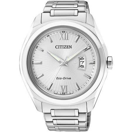 CITIZEN Eco-Drive 羅馬情人時尚腕錶-銀 AW1100-56A