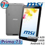 msi 微星 Primo 73 雙核7吋平板-加送16GB記憶卡+電容式觸控筆+液晶螢幕清潔液+拭布+刷筆