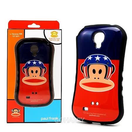 韓國進口Paul Frank Galaxy S4【安全帽大嘴猴】曲線型軟質手機殼
