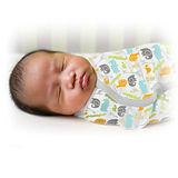 美國 Summer Infant SwaddleMe【純棉薄款 - 叢林樂園】, 小號 - 可調式懶人包巾