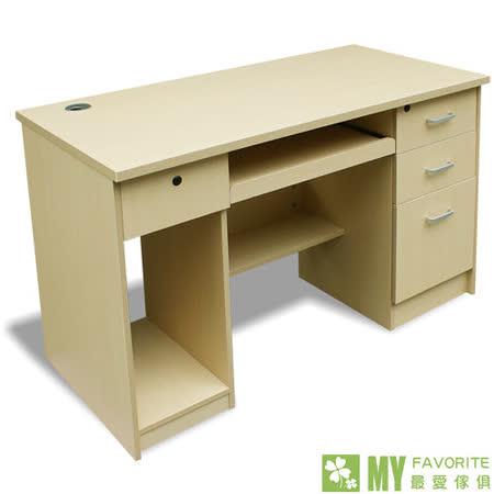 【好物推薦】gohappy快樂購物網最愛傢俱 經典4呎電腦書桌 (白橡)去哪買桃園 市 愛 買