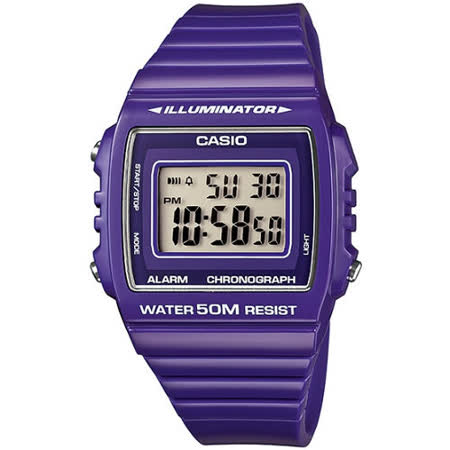 CASIO 繽紛個性馬卡龍休閒電子錶(亮紫)