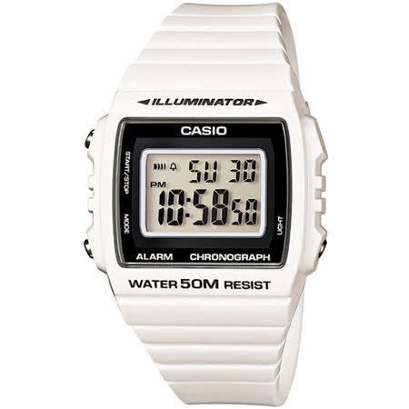 CASIO 繽紛個性馬卡龍休閒電子錶(白)