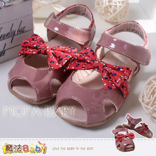 ^( 車^)魔法Baby^~~KUKI酷奇~繽紛點點蝴蝶結涼鞋寶寶鞋女童鞋^~sh2532