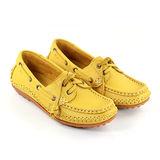 SNAIL蝸牛 經典傳統帆船鞋豆豆底系列(女生款)-黃色