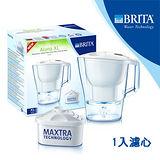 德國BRITA ALUNA XL愛奴娜型濾水壺3.5公升+1入濾芯