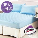 【CERES】☆台灣精製☆3M防潑水三件式床包保潔墊(雙人)-天空藍(B0554)