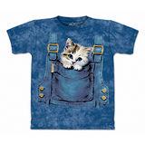 『摩達客』(預購)美國進口【The Mountain】自然純棉系列 口袋貓 設計T恤