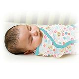 美國 Summer Infant SwaddleMe【純棉薄款 - 陽光花園】, 小號 - 可調式懶人包巾