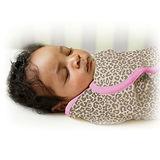 美國 Summer Infant SwaddleMe【純棉薄款 - 粉紅豹】, 小號 - 可調式懶人包巾