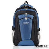 AOKANA奧卡納 舒壓輕量防水護脊電腦後背包(湖水藍)68-029