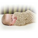 美國 Summer Infant SwaddleMe 嬰兒包巾 【純棉薄款- 豹紋】大號 - 可調式懶人包巾