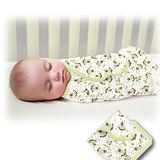 美國 Summer Infant SwaddleMe 可調式懶人包巾兩入組【純棉薄款 - 叢林小猴】, 小號