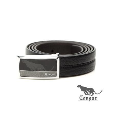 Cougar - 美洲豹雙拼色調牛皮釘扣式皮帶